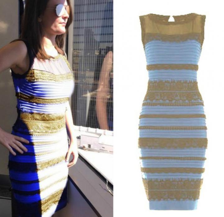 Фото платья золотое или синее